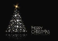 黑色圣诞节白色 图库摄影