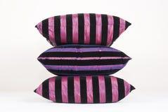 黑色坐垫粉红色 免版税库存照片