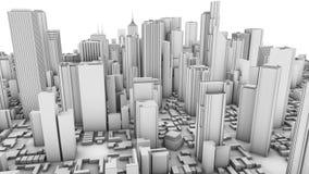 黑色城市白色 库存图片