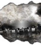 黑色城市grunge纹理白色 免版税库存图片
