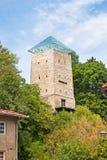 黑色塔在Brasov,特兰西瓦尼亚,罗马尼亚 免版税库存图片