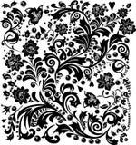 黑色复杂装饰 图库摄影