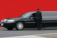 黑色大型高级轿车 免版税库存图片
