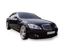 黑色大型高级轿车 库存照片