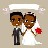 黑色夫妇婚礼 库存图片