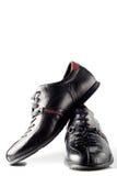 黑色夫妇鞋子 免版税库存图片