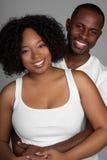 黑色夫妇年轻人 免版税库存图片