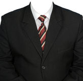 黑色夹克人s衬衣白色 免版税库存照片