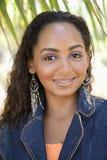 黑色女性微笑 图库摄影