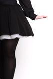 黑色女性背面图 免版税图库摄影