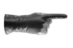 黑色姿势示意的手套 免版税库存图片