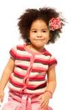 黑色小女孩纵向 免版税库存照片