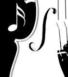 黑色小提琴白色 免版税库存照片