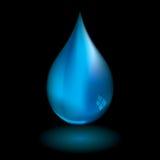 黑色小滴水 向量例证