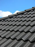 黑色屋顶 库存图片
