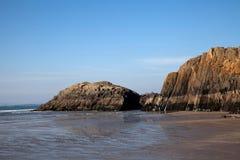 黑色岩石沙子 免版税库存图片