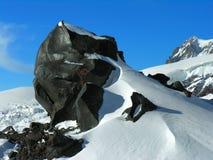 黑色岩石 库存照片