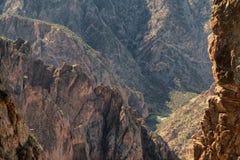 黑色峡谷 免版税图库摄影