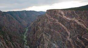 黑色峡谷gunnison被绘的墙壁 图库摄影