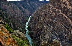 黑色峡谷gunnison被绘的墙壁 免版税库存图片