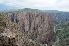 黑色峡谷gunnison 库存图片