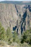 黑色峡谷gunnison 图库摄影