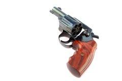 黑色左轮手枪枪 免版税库存图片