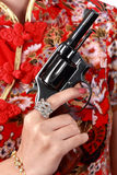 黑色左轮手枪枪 免版税库存照片