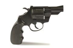 黑色左轮手枪 免版税图库摄影