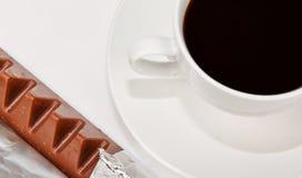 黑色巧克力咖啡三角 库存图片