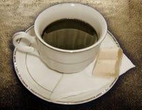 黑色巧克力咖啡白色 免版税库存照片