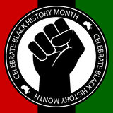 黑色庆祝历史记录 向量例证