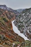 黑色底部峡谷gunnison河 免版税库存图片