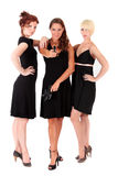 黑色开枪三名妇女 图库摄影