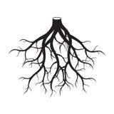 黑色形状根源树 也corel凹道例证向量 图库摄影