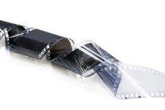 黑色影片老白色 库存照片