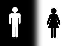 黑色性别白色 免版税库存照片