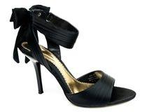 黑色性感的鞋子 免版税库存照片