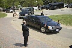 黑色总统大型高级轿车 库存照片