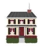 黑色房子红色 库存照片