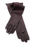 黑色手套皮革 免版税库存图片
