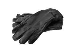 黑色手套皮革 免版税库存照片