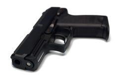 黑色手枪 免版税图库摄影