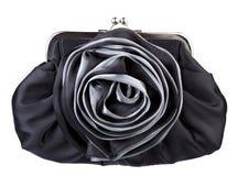 黑色手袋womans 免版税图库摄影
