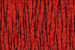黑色打印红色老虎 免版税图库摄影