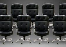 黑色扶手椅子 免版税图库摄影