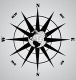 黑色指南针向量 免版税库存照片