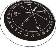 黑色指南针老牌 免版税库存图片