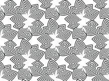 黑色排行在白色背景的无缝的样式 抽象背景向量 Psyphodelic黑白色样式 免版税图库摄影