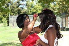 黑色掠过的头发妇女年轻人 免版税库存图片
